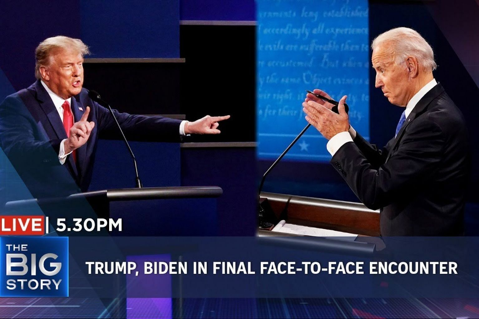Trump, Biden fire personal jabs in final face-to-face encounter | THE BIG STORY