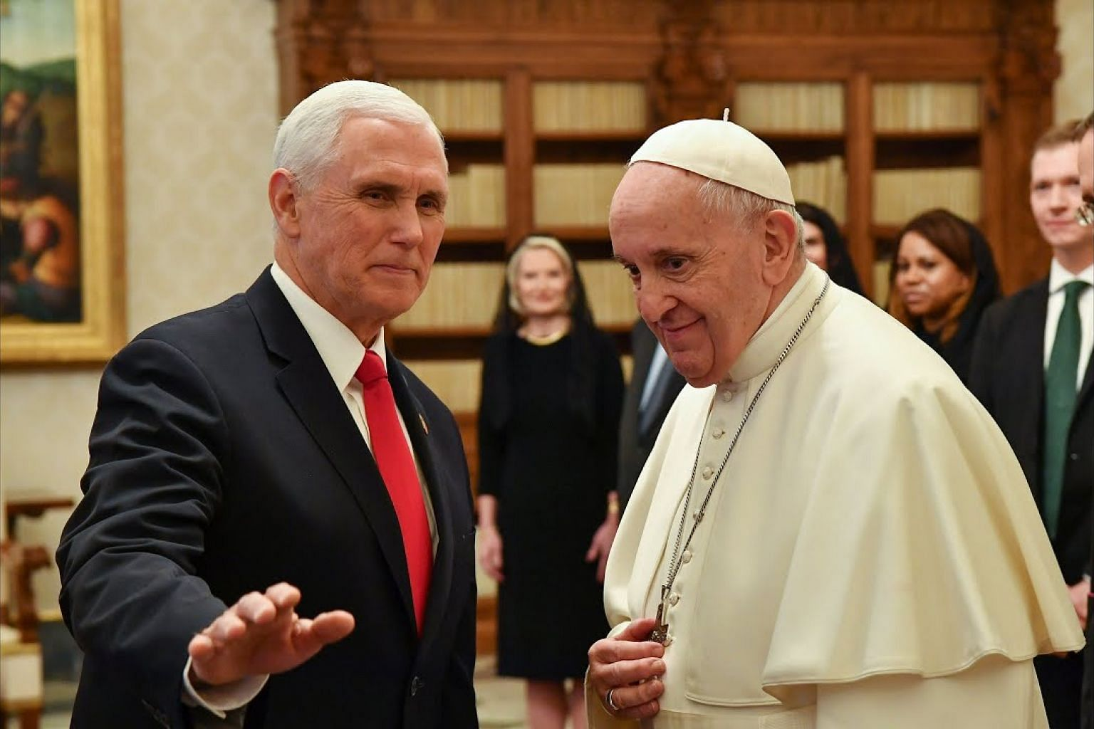 Pence tells pope, 'You have made me a hero'