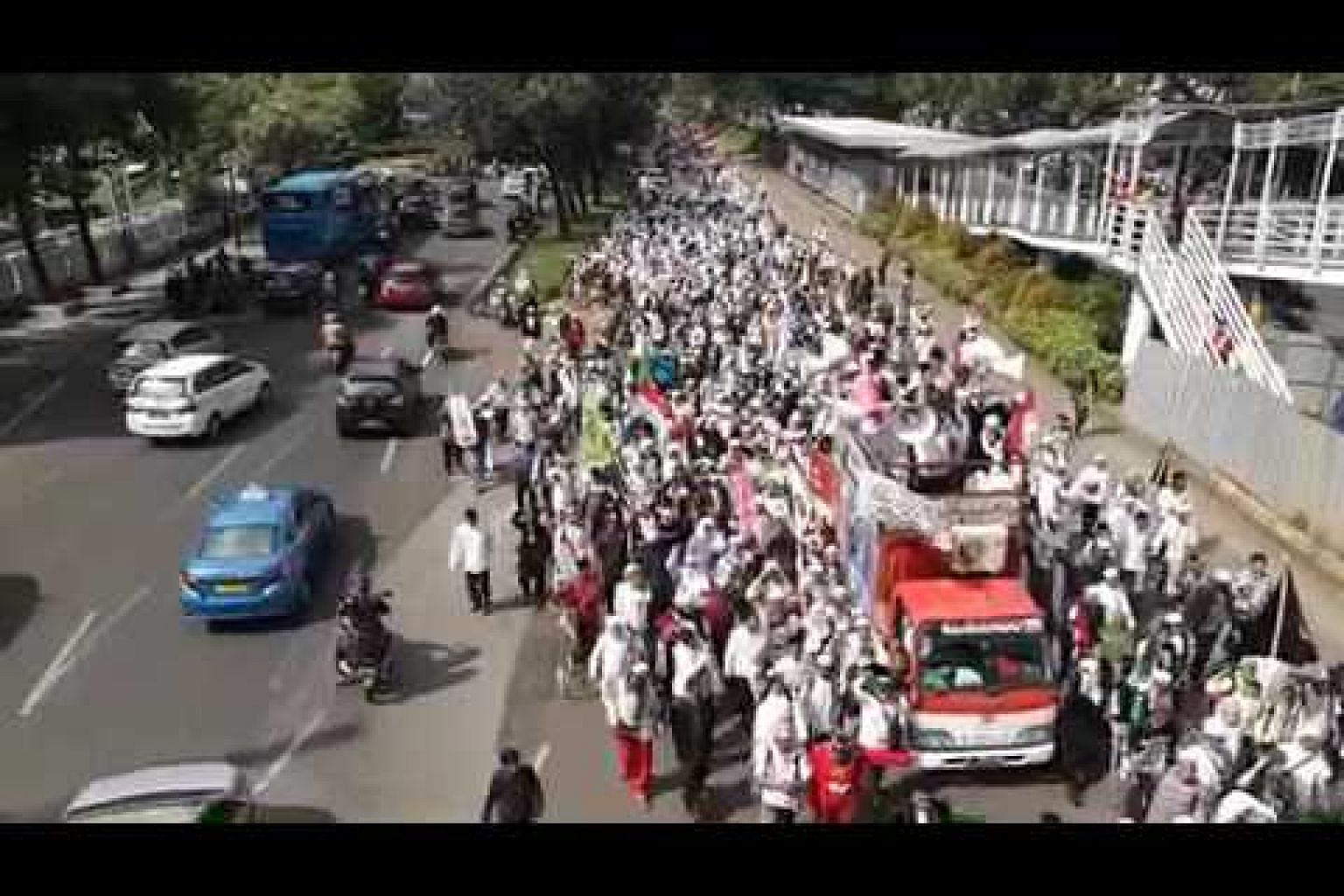 Protest street march in Jakarta