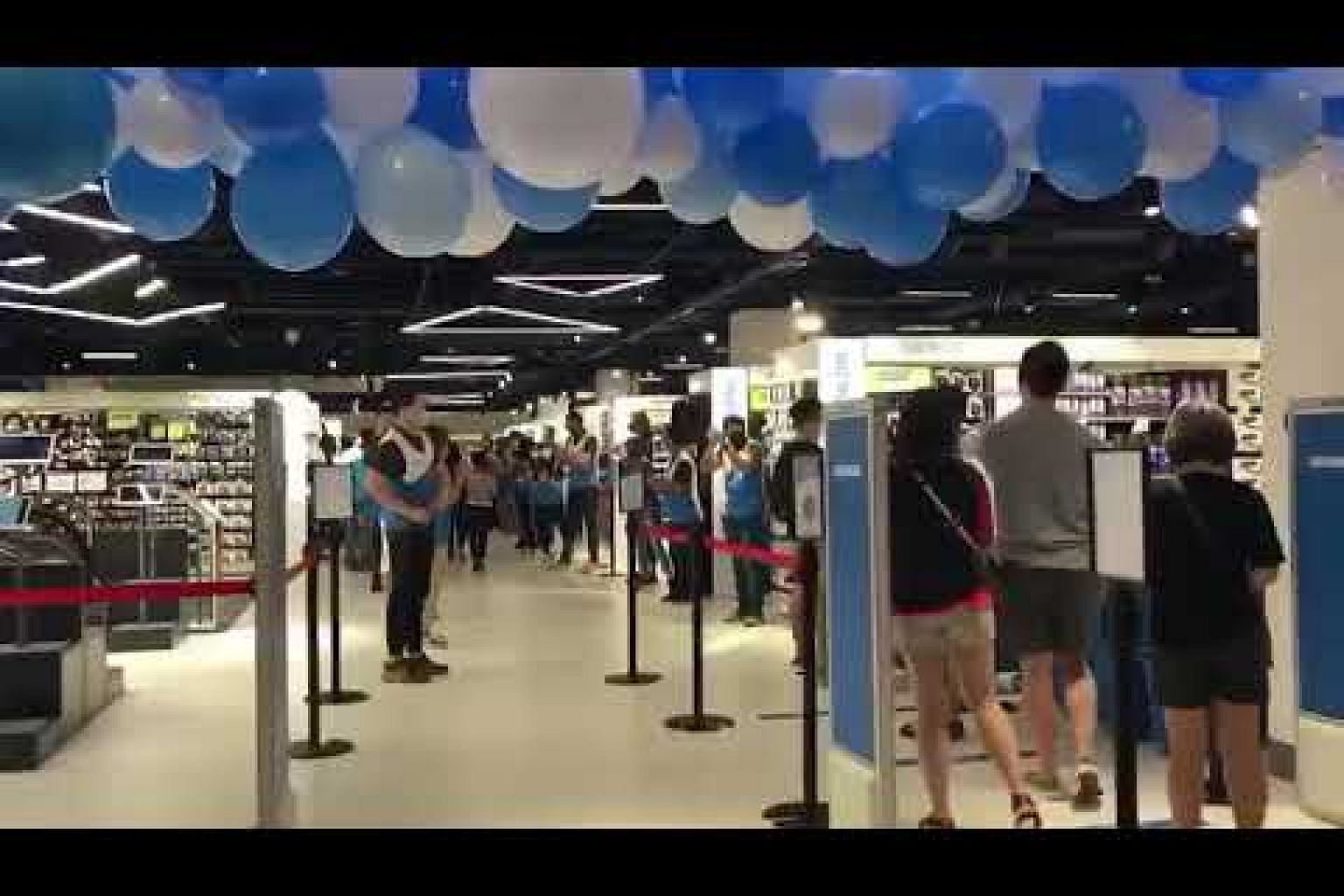 Shoppers streaming into the new Decathlon Orchard store at The Centrepoint on Saturday
