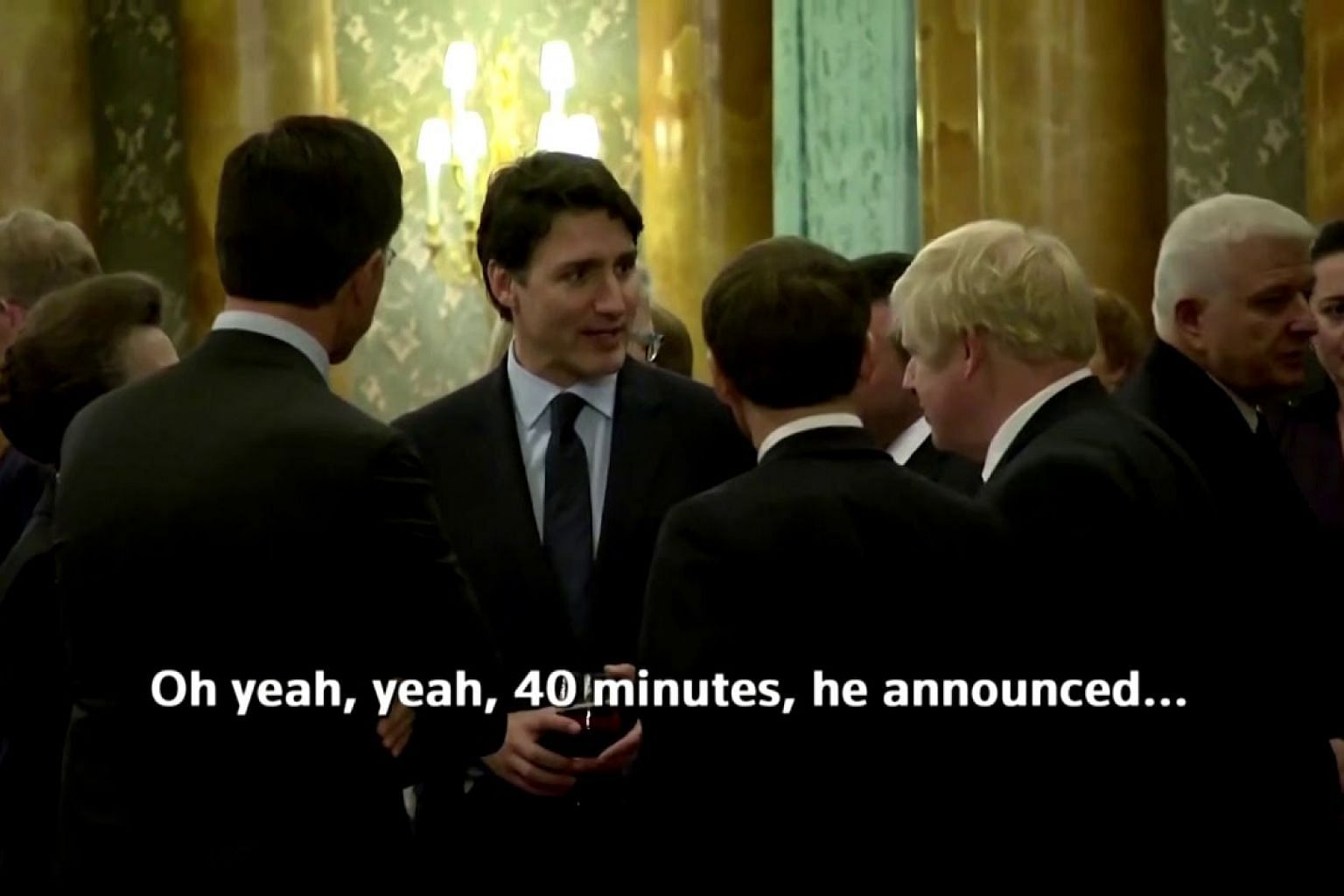 World leaders caught gossiping about Trump