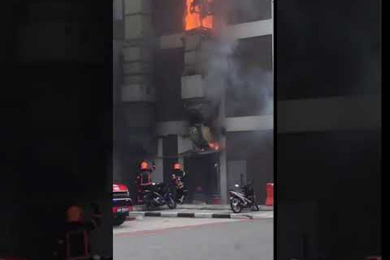 Fire at coffee shop in Pasir Ris