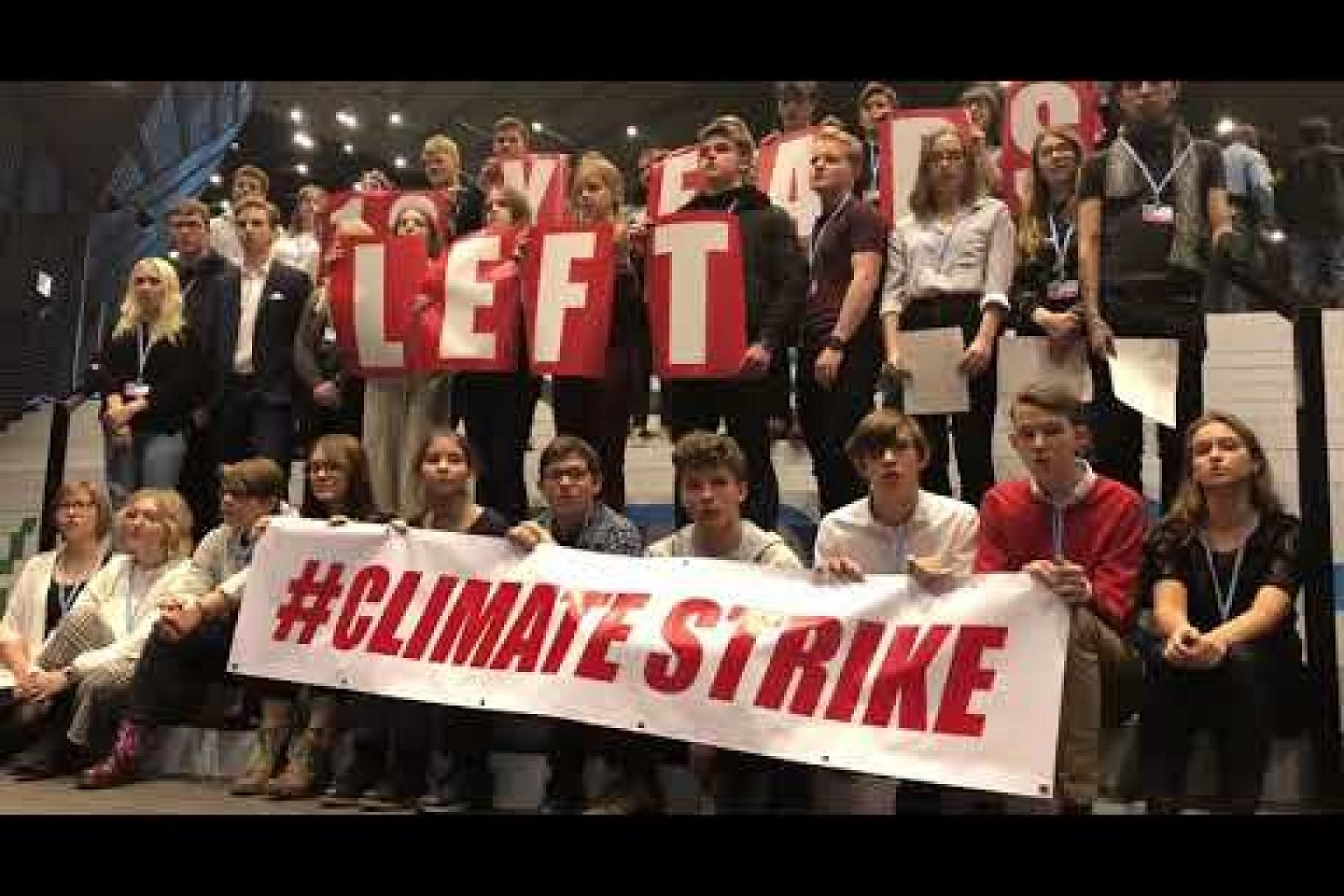 Climate strike at COP24 by teenagers