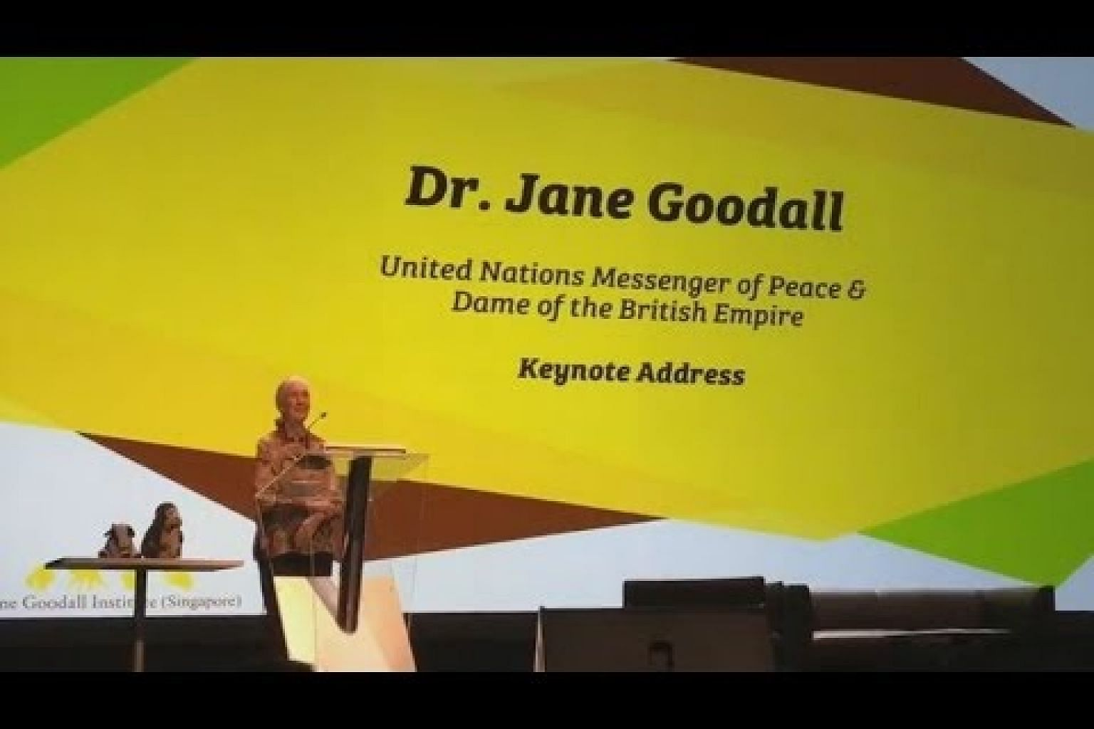Dr Jane Goodall in Singapore