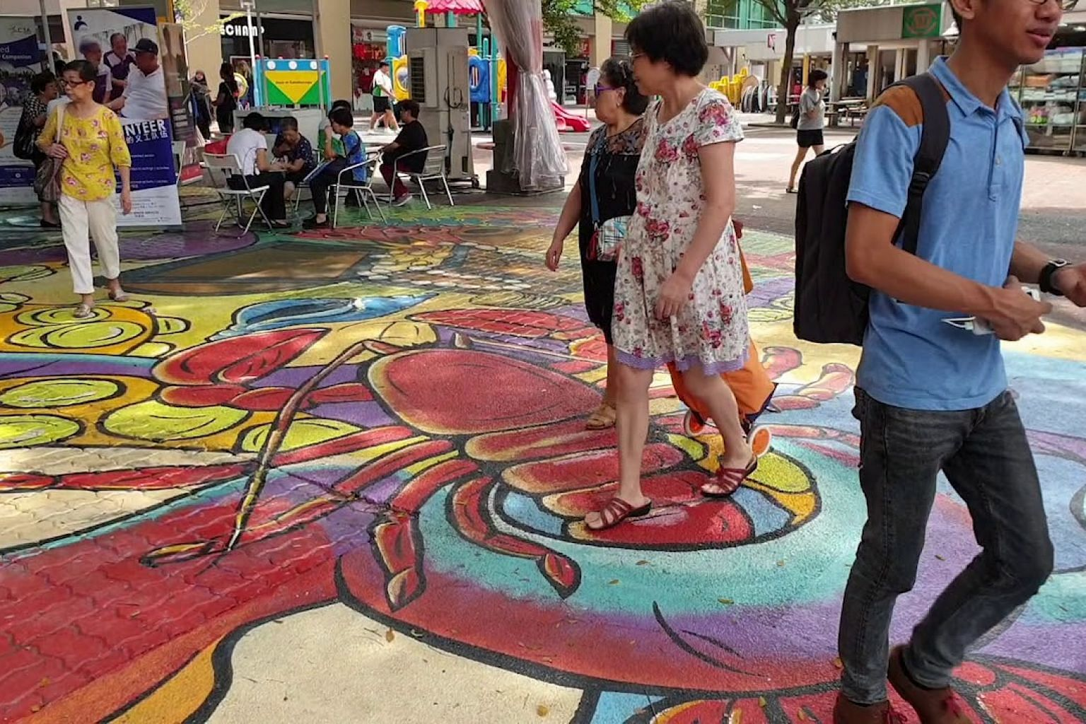 Murals and 3-D paintings in Ang Mo Kio Town Centre
