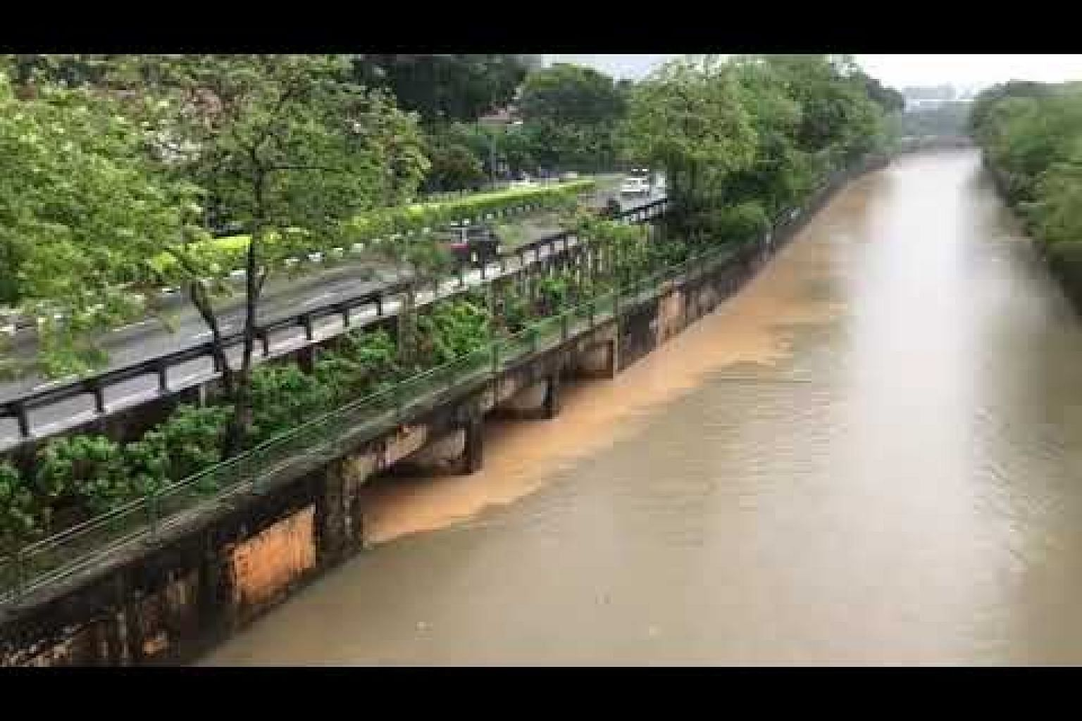 Silt in Bukit Timah Canal
