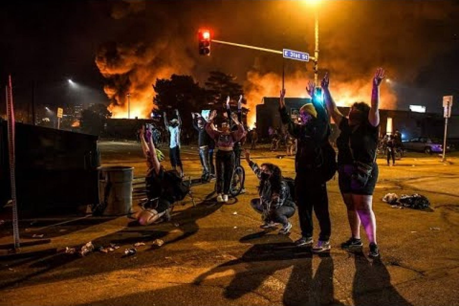 Protesters loot and set fire to Minneapolis stores