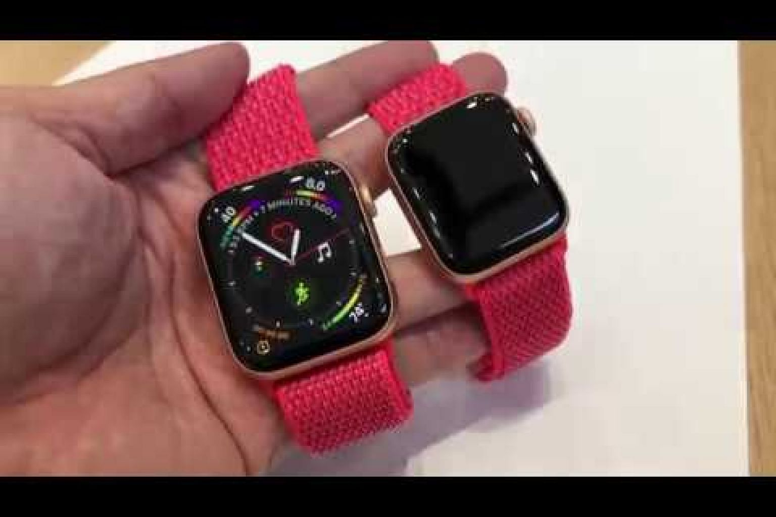 Hands-on video of Apple Watch Series 4