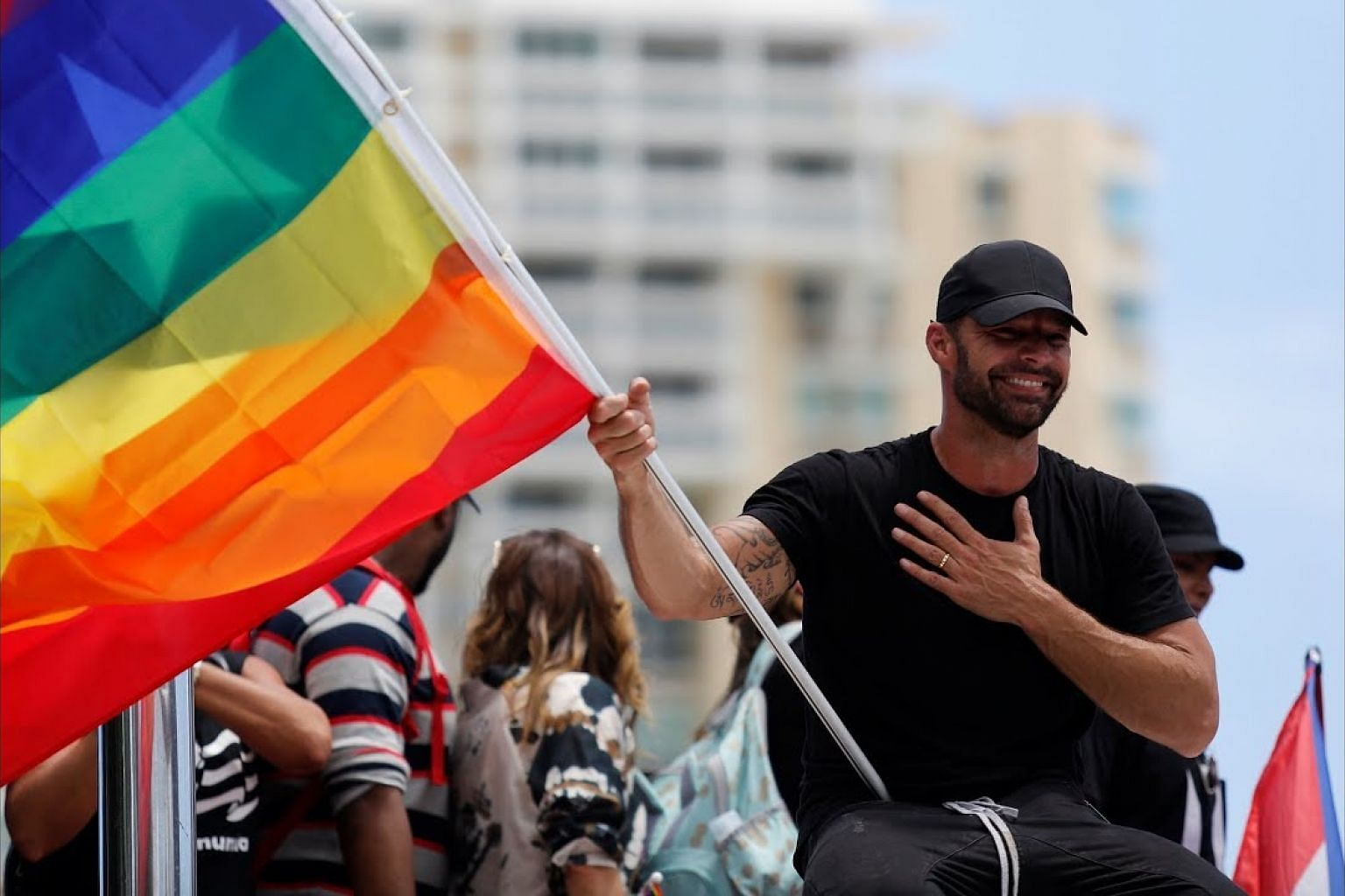 Ricky Martin, Calle 13 join anti-Rossello protests in Puerto Rico
