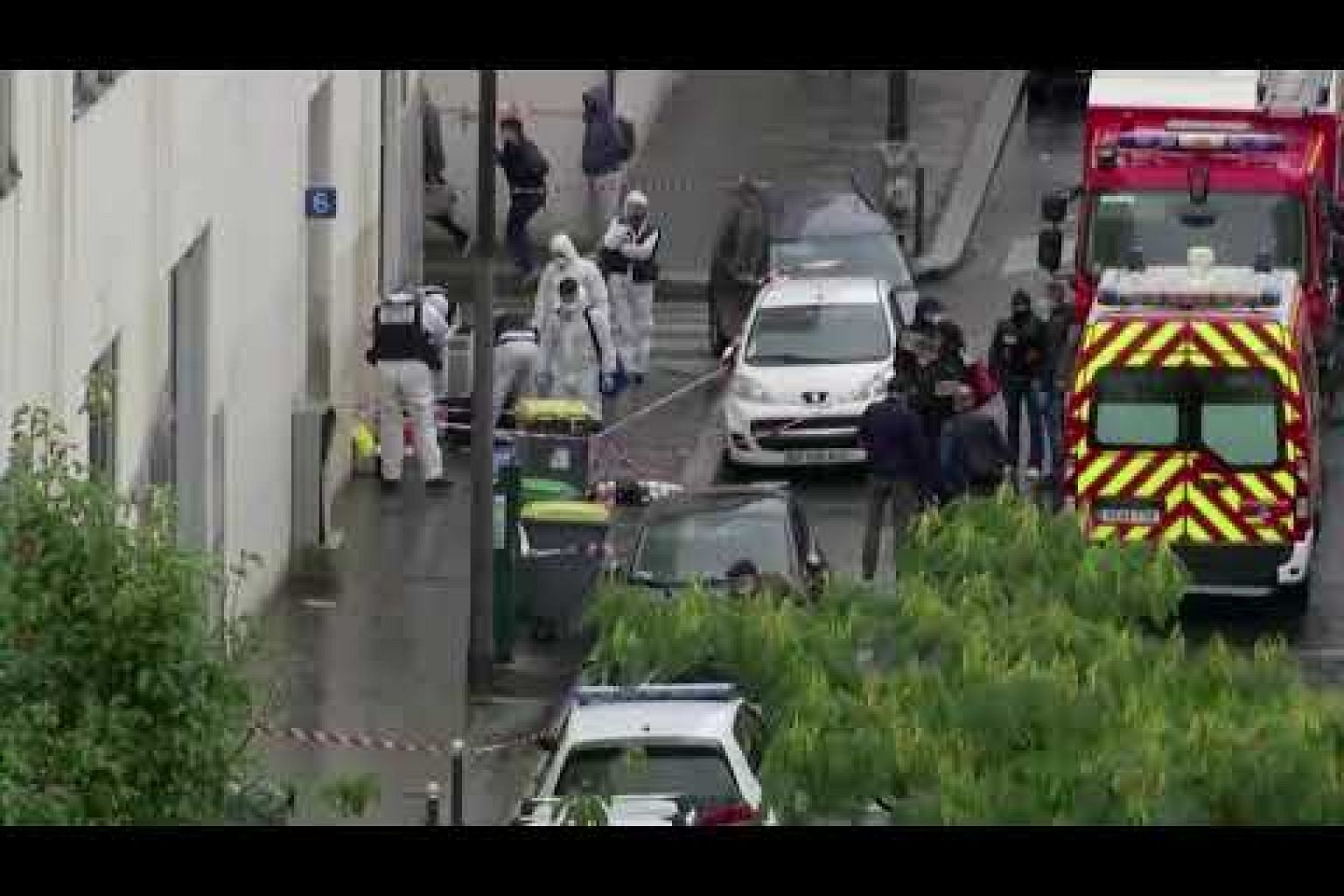 Paris knife attack suspect says he targeted Charlie Hebdo
