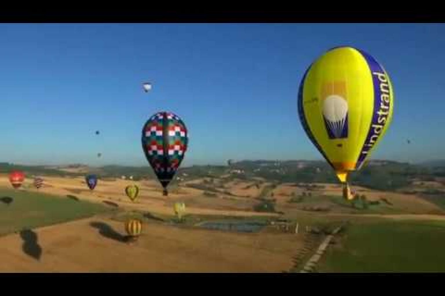 Balloonists take to the skies over Umbria's wine valley
