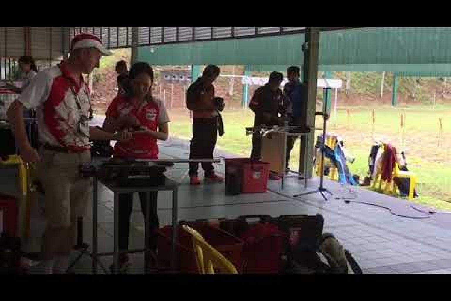 Singapore shooter Jasmine Ser at the SEA Games women's 50m rifle on Aug 26, 2017