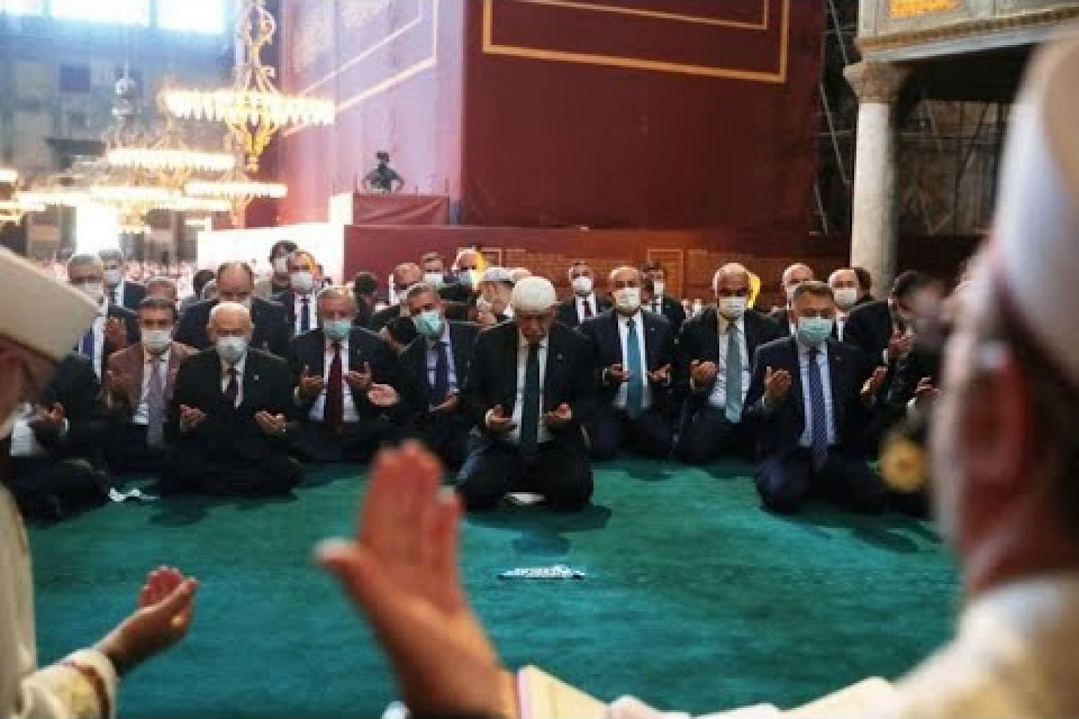 Erdogan joins thousands in first prayers at Hagia Sophia