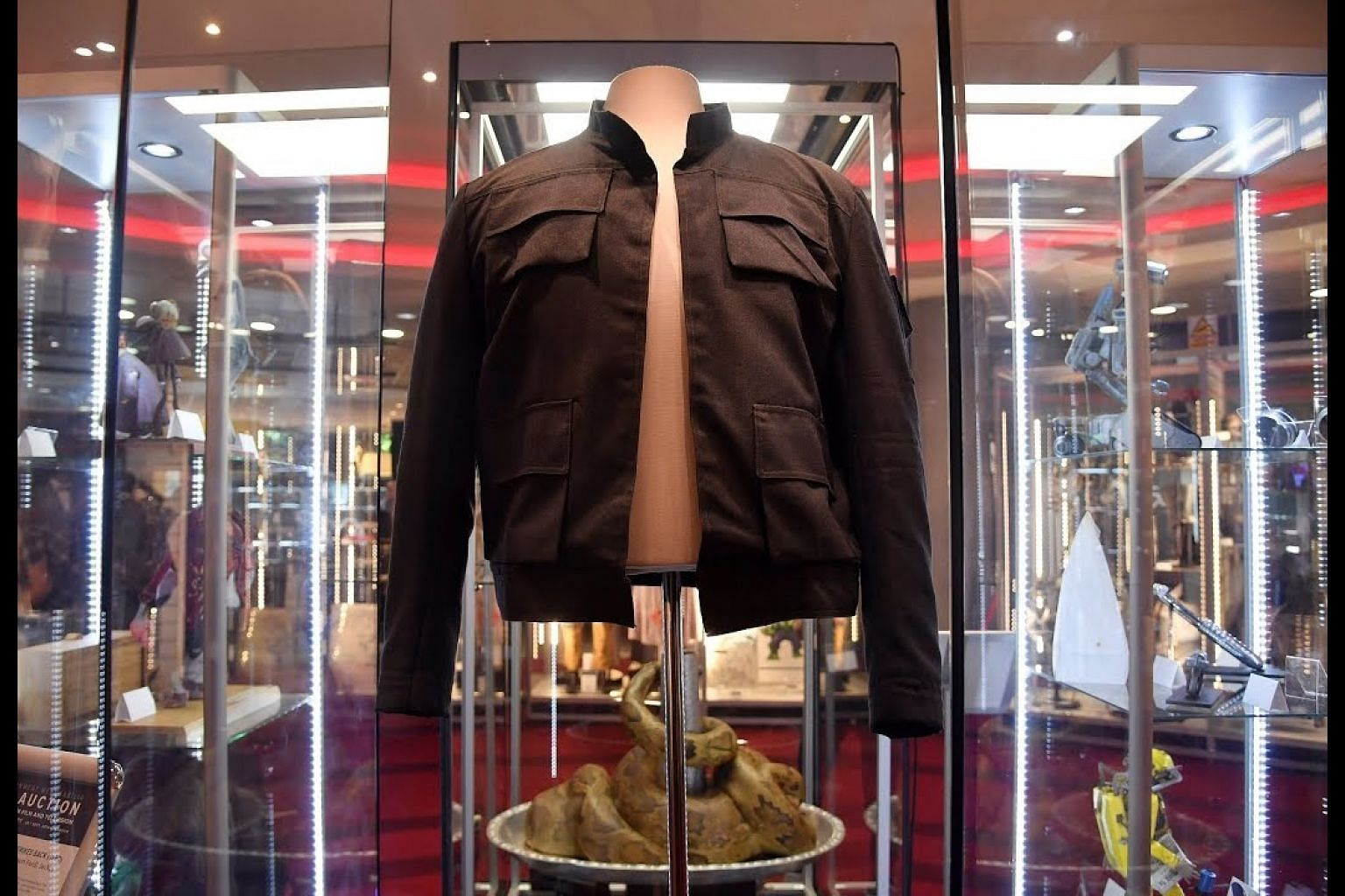 Han Solo jacket, Marty McFly hoverboard up for sale