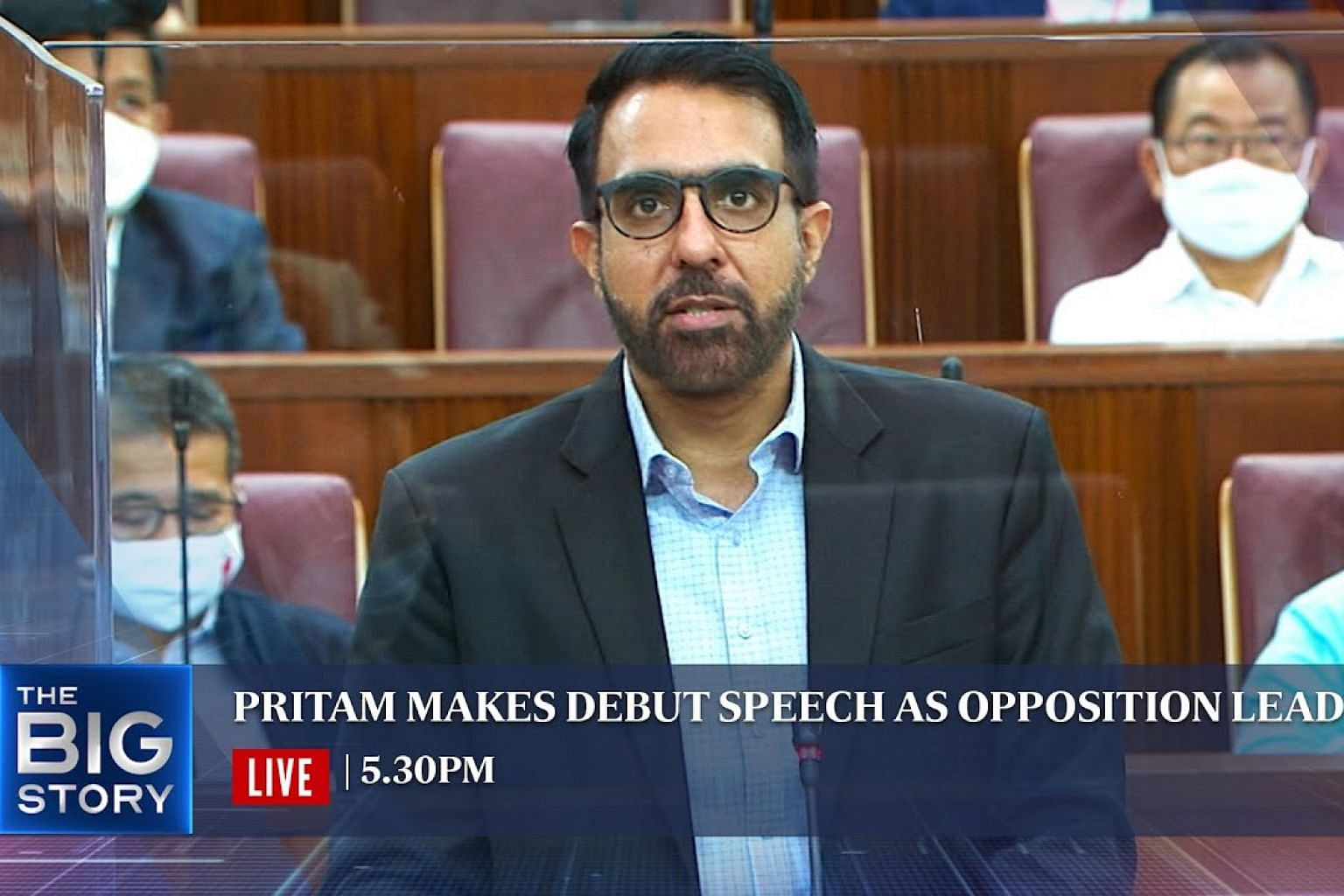 Pritam Singh debuts as Leader of the Opposition   THE BIG STORY