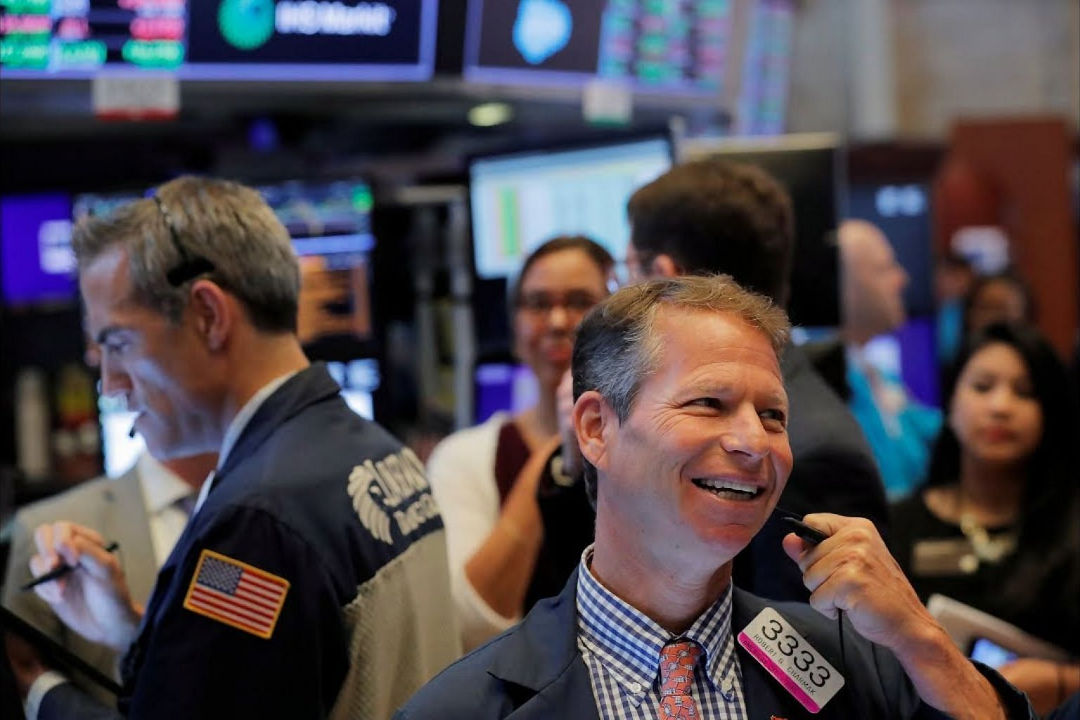 Wall Street notches record highs