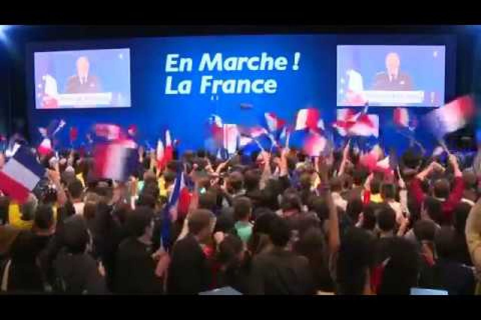 Projections say Macron, Le Pen in French vote runoff