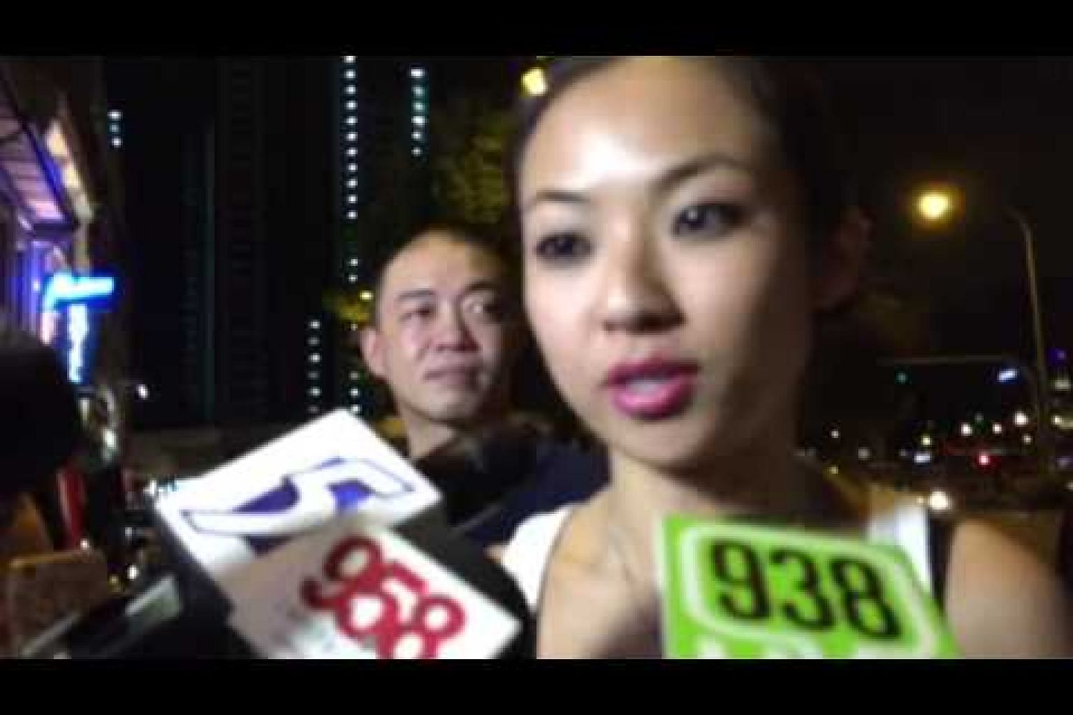 Kervyn Lim from National Solidarity Party speaks to the media