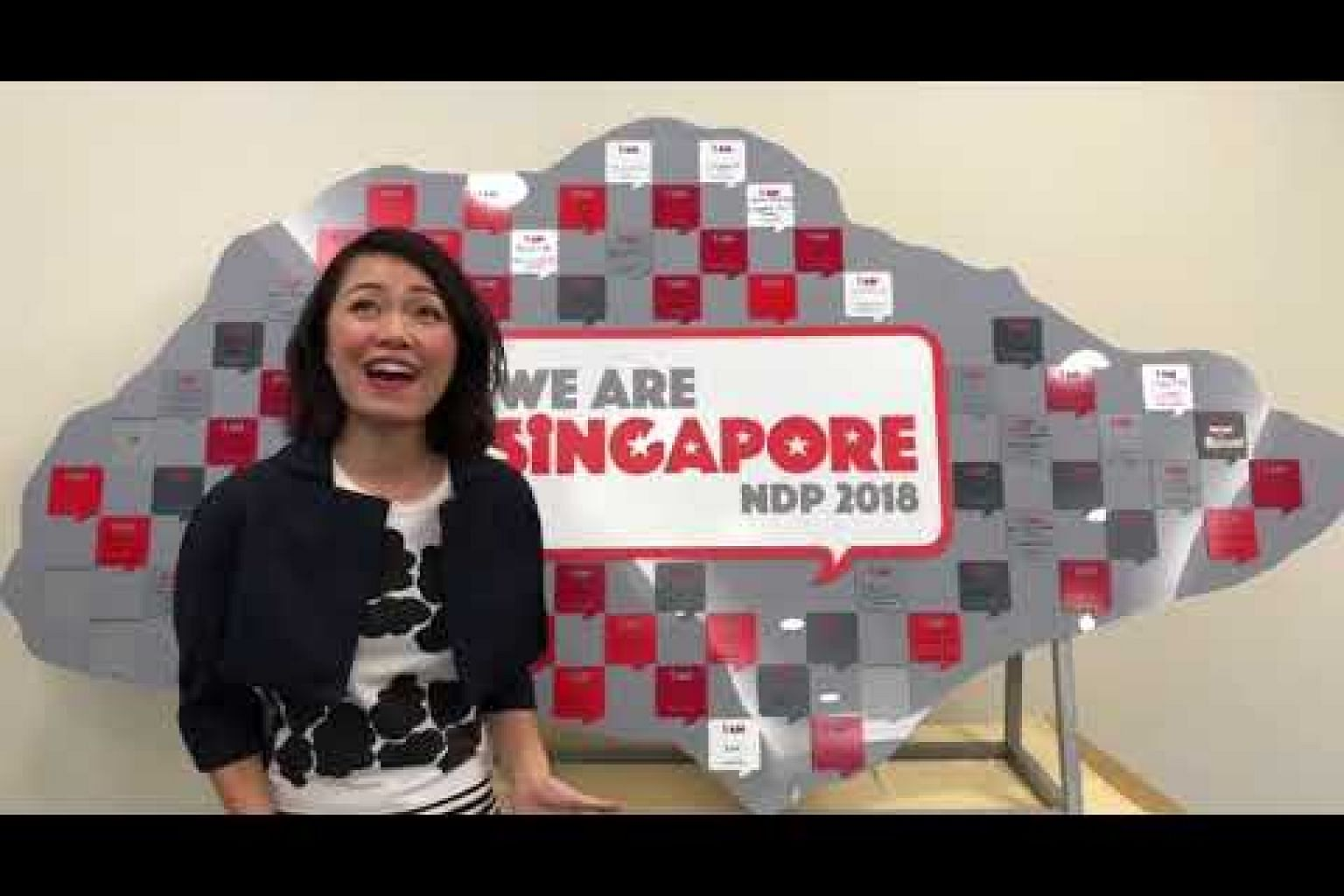 Joanna Dong sings We Are Singapore at the Marina Bay Floating Platform on July 20, 2018