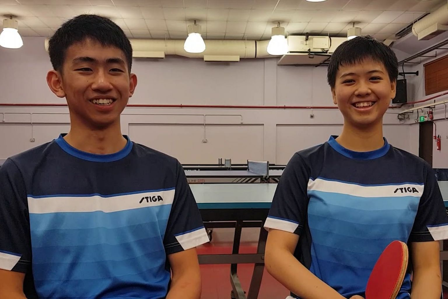 Table tennis players Koen Pang, 16, and Goi Rui Xuan, 17, on the Youth Olympic Games