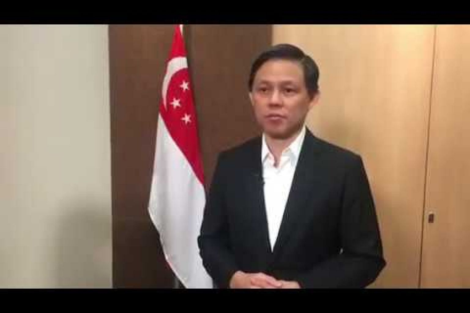 Minister Chan Chun Sing on maritime dispute with Malaysia (A)