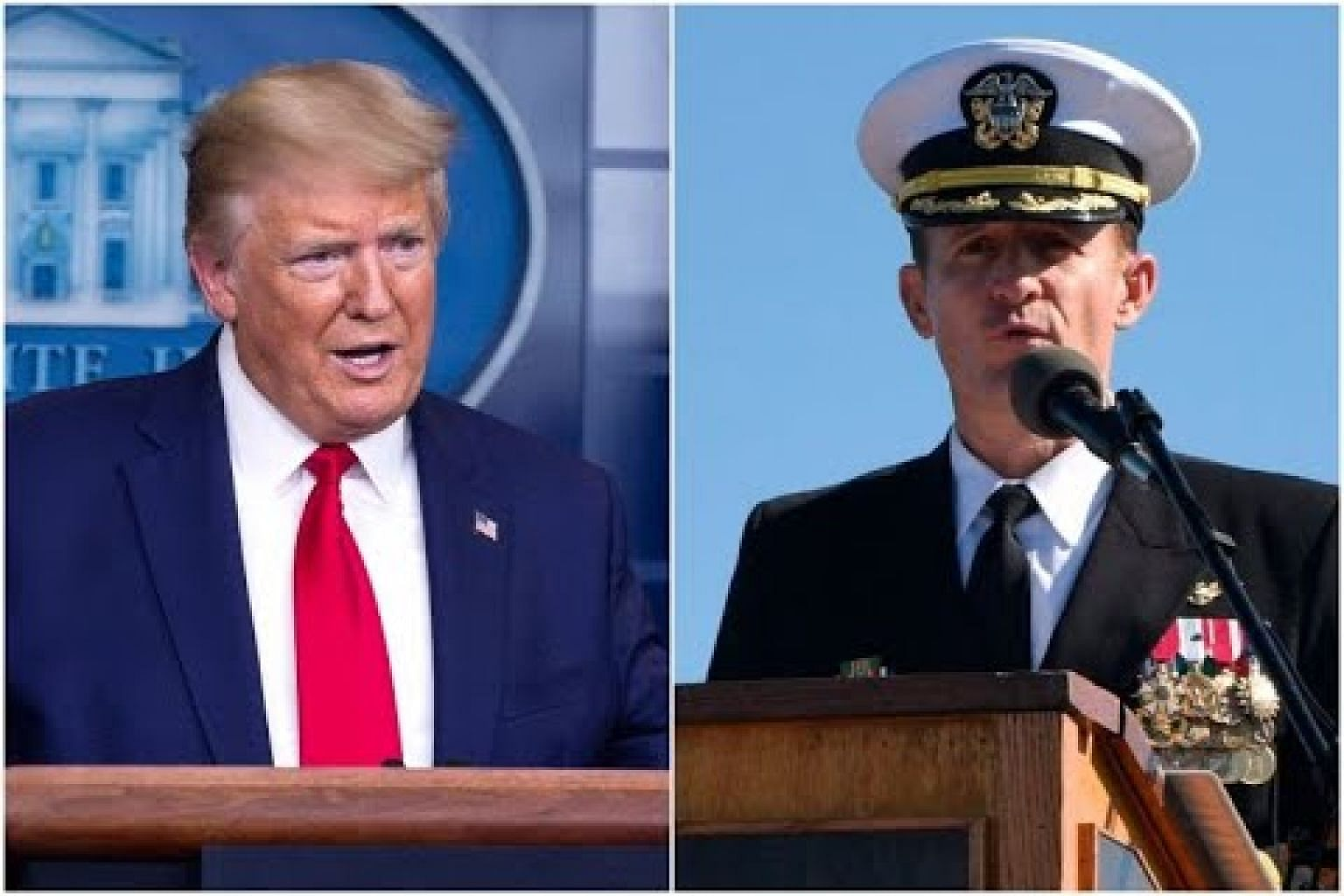 Trump says may 'get involved' in Navy captain furore