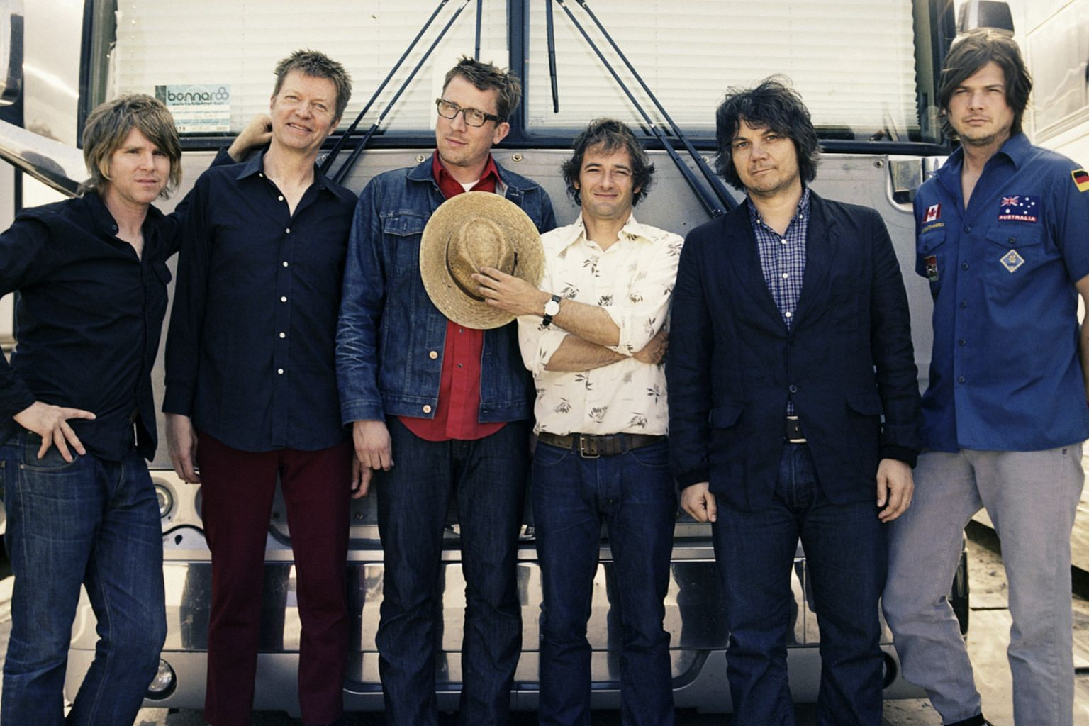 Sandy Lam sings Mayday's Eternal Summer. Jeff Tweedy (second from right) is the frontman of alt-rock band Wilco.