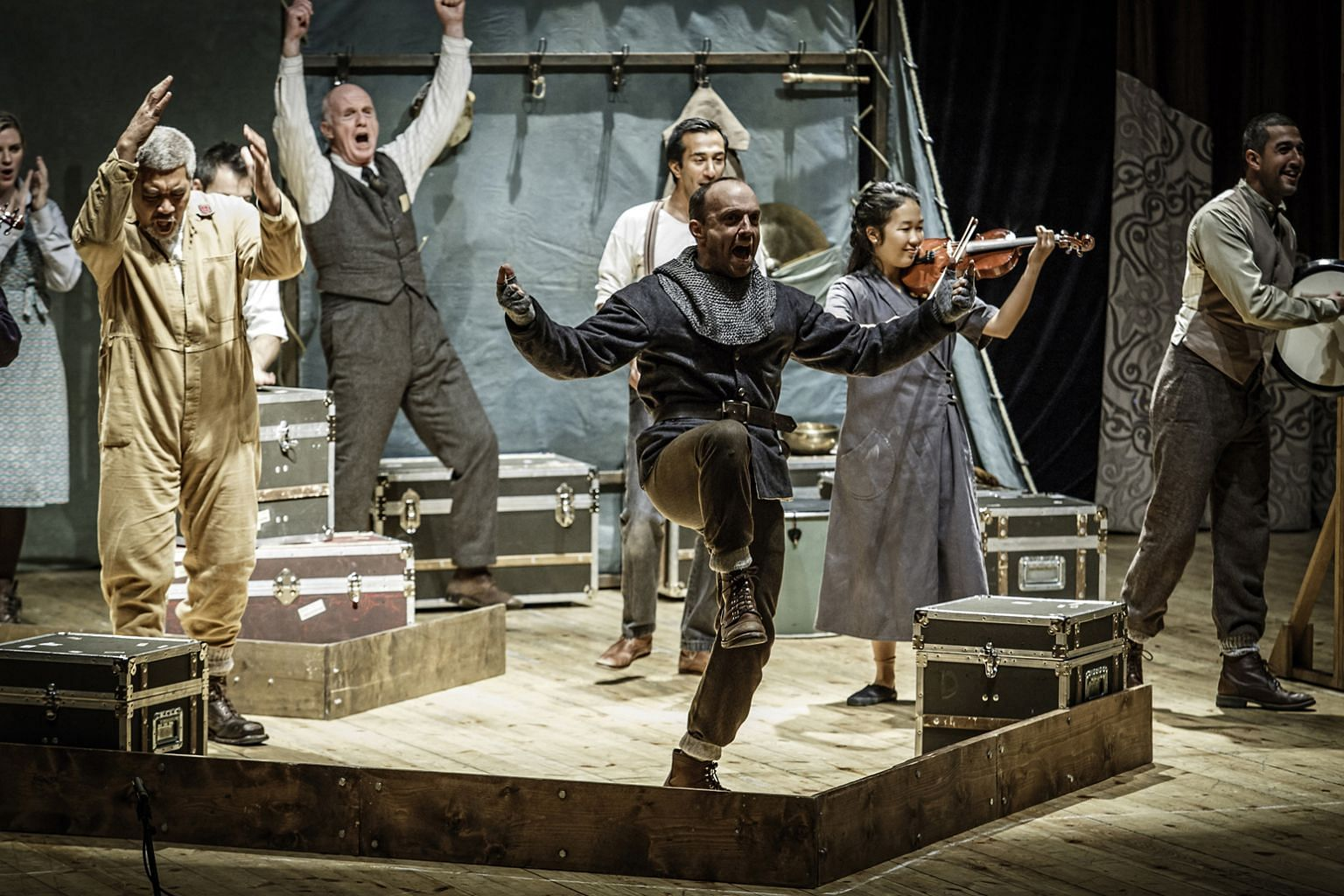 The Globe's travelling production of Hamlet has toured for 16 months to 130 cities.