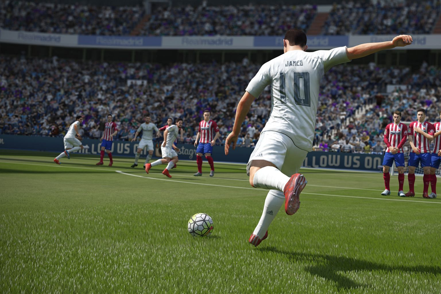 The latest iteration of the Fifa football series remains as delightful as before, with all the players' faces and the teams' jerseys faithfully reproduced down to the finest detail, such as hairstyles and facial hair. Teams and players are really wha