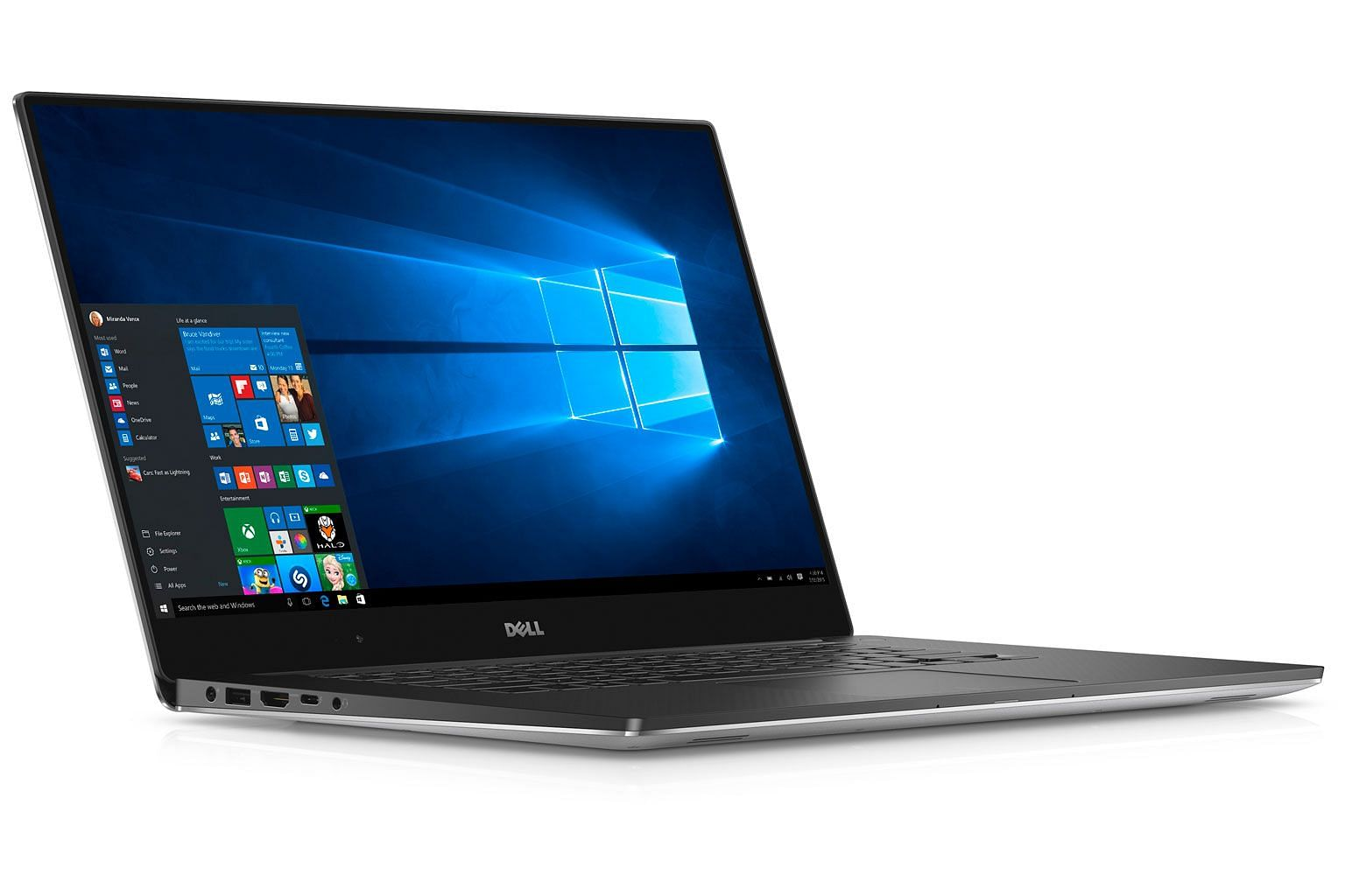 The Dell XPS 15 (Model 9550) Touch 15-inch notebook computer (left), codenamed Berlinetta XPS.