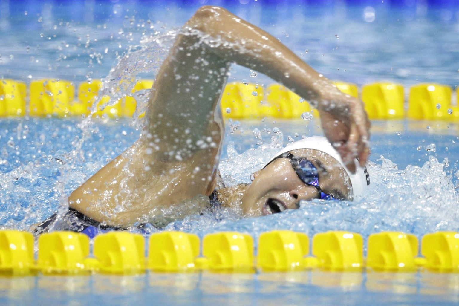 """Quah Ting Wen was hailed as the """"best swimmer that I've ever coached"""" by national coach Sergio Lopez last night, who praised her for being a good role model."""