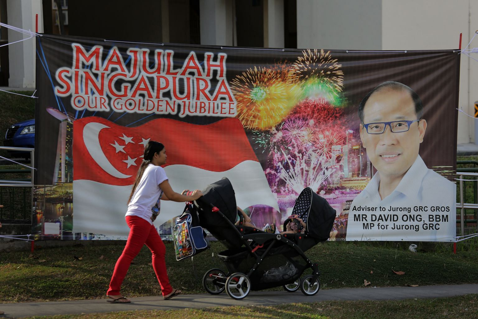 Mr Ong, seen here on a banner put up in the Bukit Batok constituency last year, stepped down last month over an alleged extramarital affair with a PAP member who was one of his grassroots activists. In his letter to Bukit Batok residents, he also tha