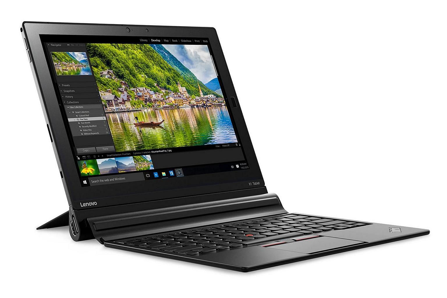By snapping on different modules, you can turn the Lenovo ThinkPad X1 Tablet from a productivity workhorse to a portable entertainment centre.