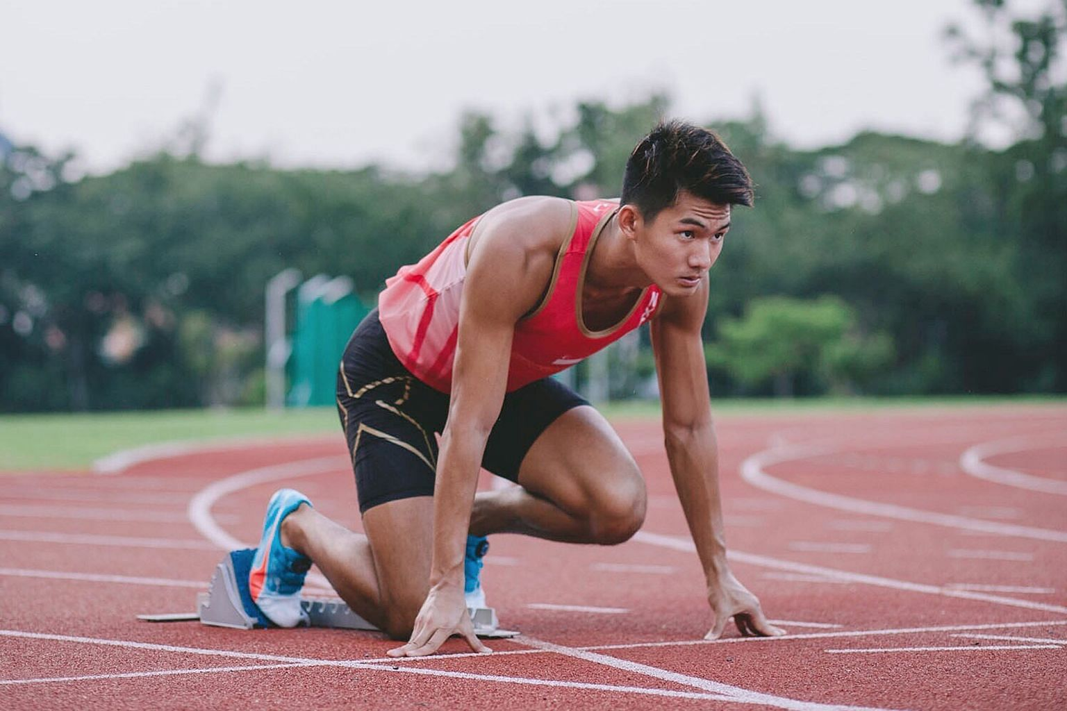 Timothee Yap, 21, is a former 400m hurdler who made the switch to the 100m and 200m sprint only last year. His personal best is 10.62 seconds set in Portugal two weeks ago.
