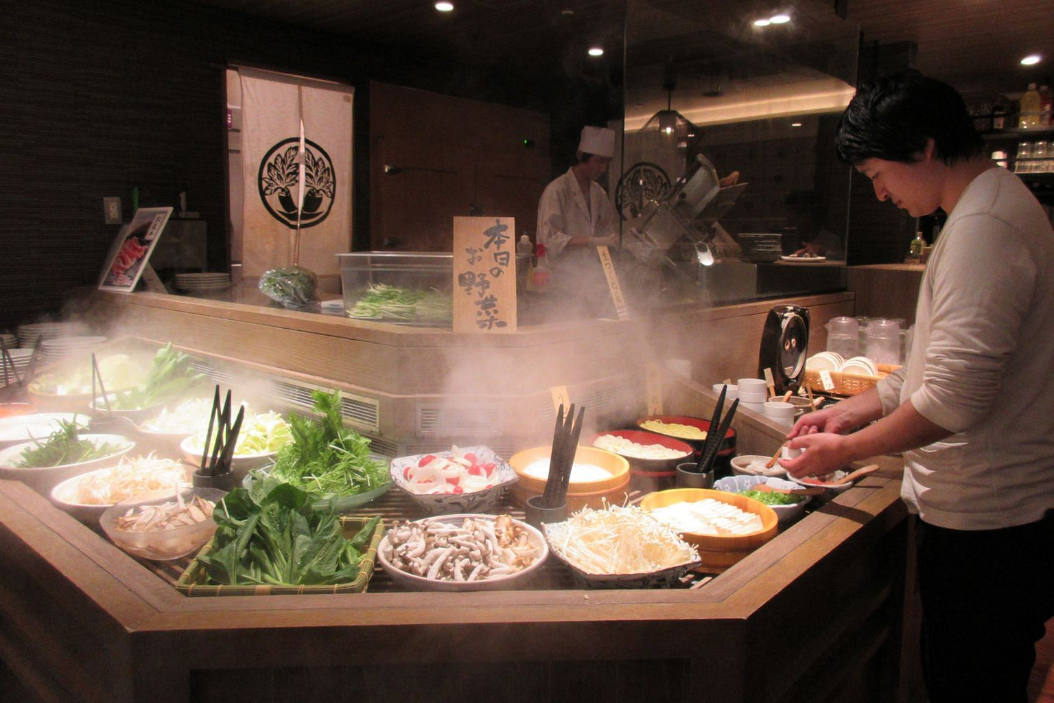 Singaporean consumers are spoilt for choice and like new ideas, said Mr Tanaka. A Shabu Sai restaurant in Tokyo, where the traditional shabu shabu is given a contemporary touch with specially designed buffet counters equipped with mist sprays that ke