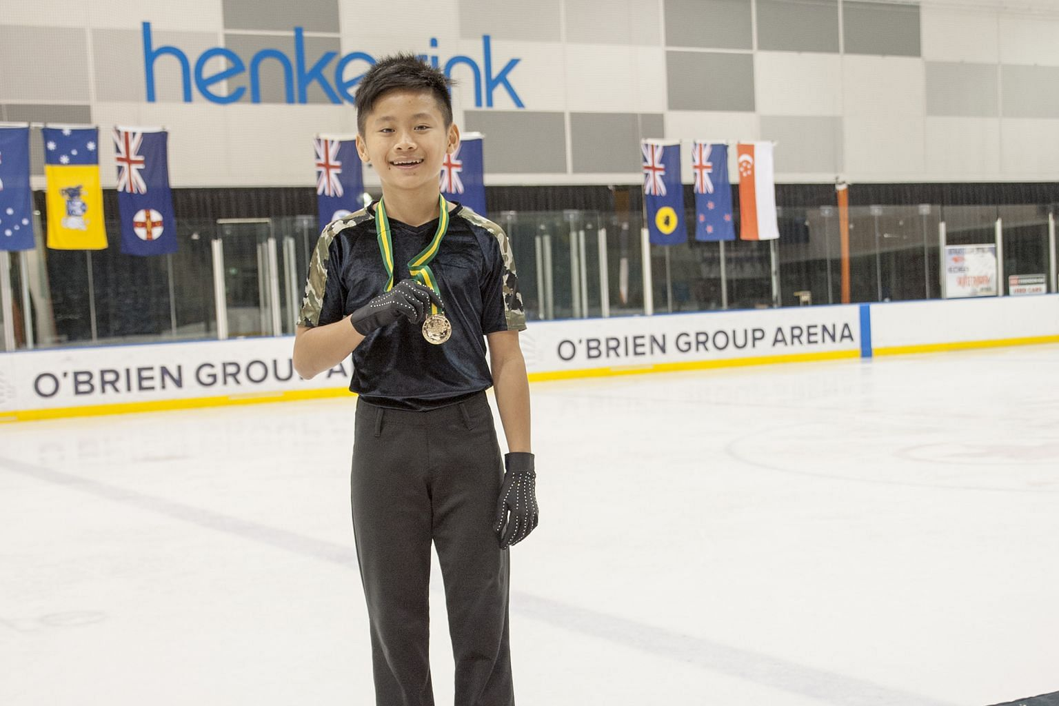 Singapore skater Pagiel Sng won the men's basic novice A division at the Australian Figure Skating Championships in Melbourne yesterday. The 12-year-old was taking part in his first competition of the season, making his return after injury a triumpha