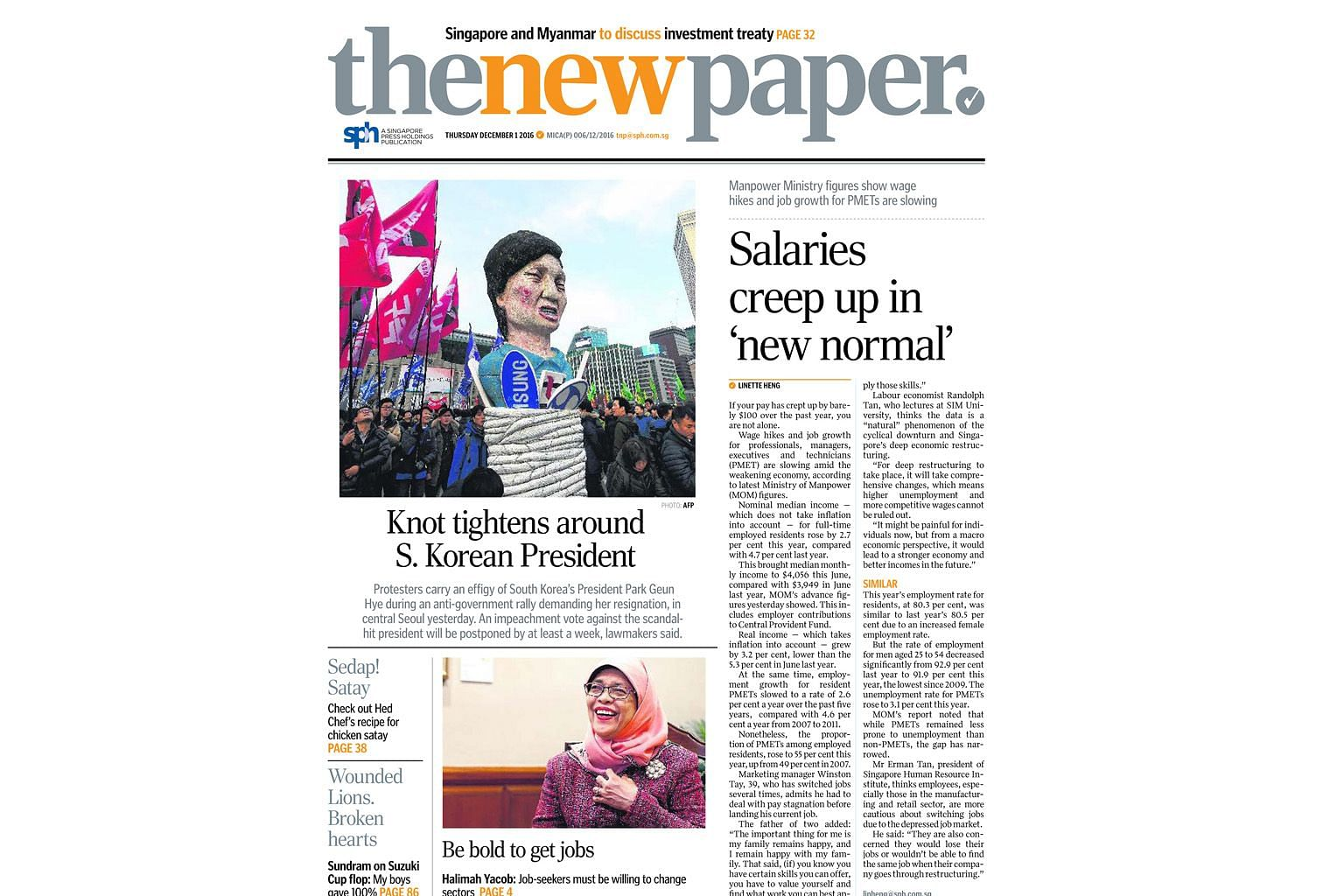 The revamped TNP has a fresh mix of content aimed at PMEBs, but it will still hold on to its traditional strengths - coverage of sports, food and entertainment, and heart-tugging stories about people in Singapore.
