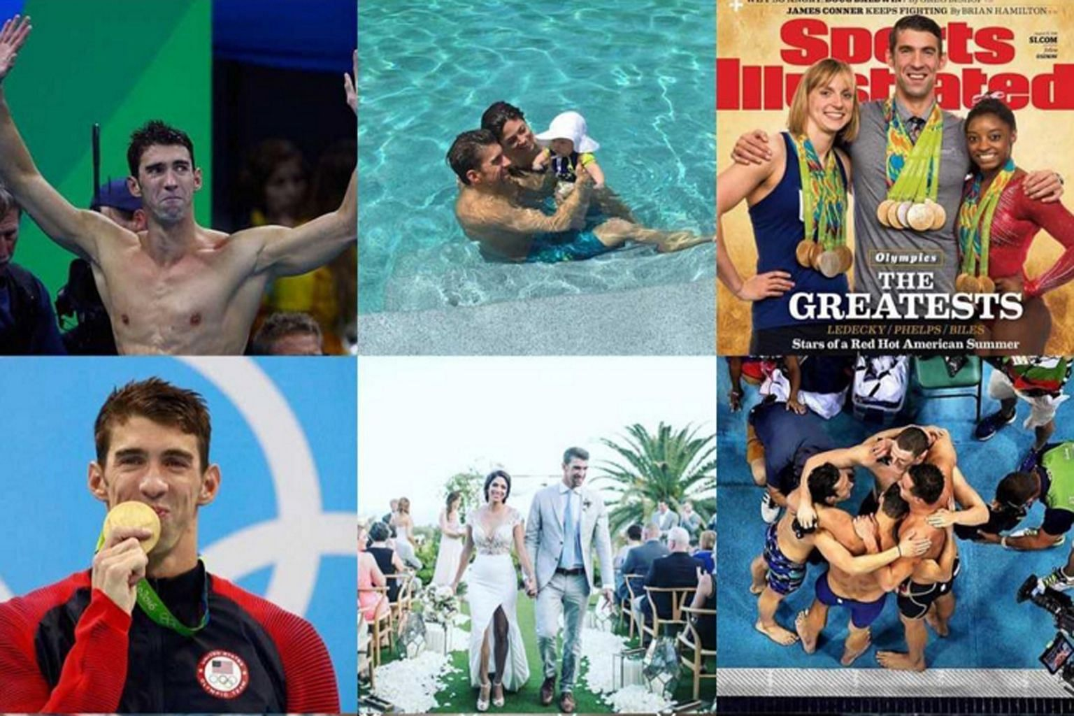 American swim legend Michael Phelps included a picture of himself and Singapore's Joseph Schooling in a photo collage of 2016 highlights which he posted on Instagram on New Year's Day. Both men had competed at the Rio Olympics with Schooling claiming
