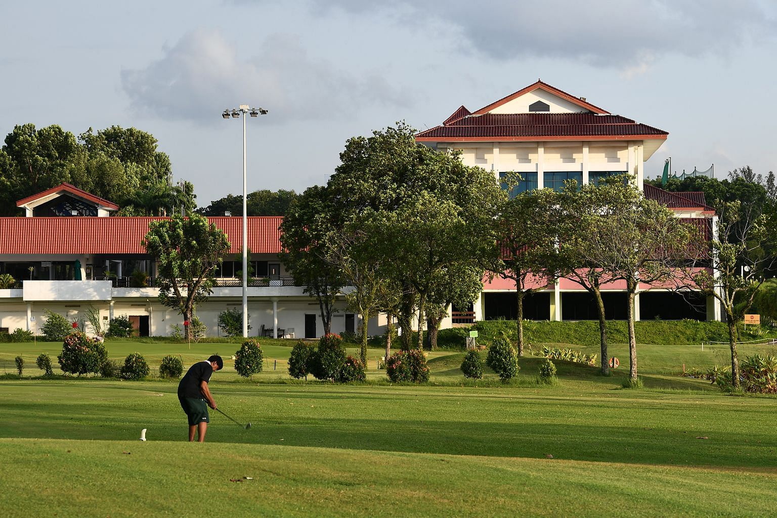 """Singapore golfers, it's time to say """"bye bye, birdie"""". The game is played by about 36,000 here, or less than 1 per cent of the population. With land owned by clubs like Jurong Country Club (pictured) slated to be acquired by the Government, the days"""