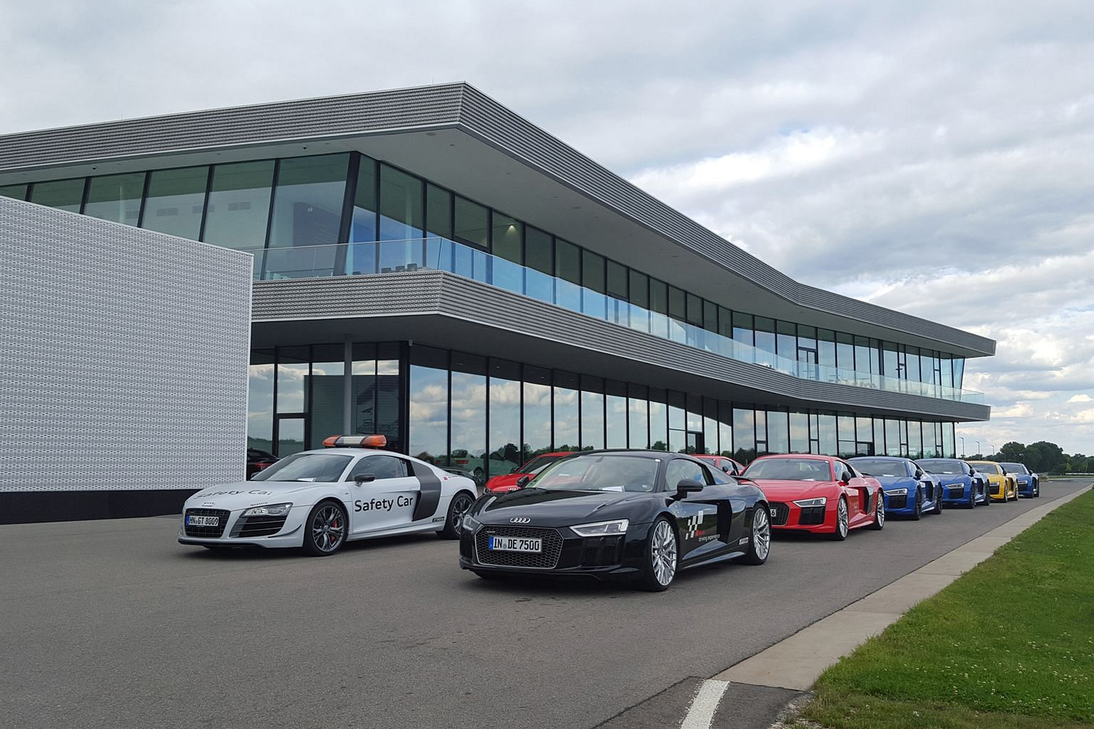 The Audi driving experience centre in Neuburg an der Donau, Germany.