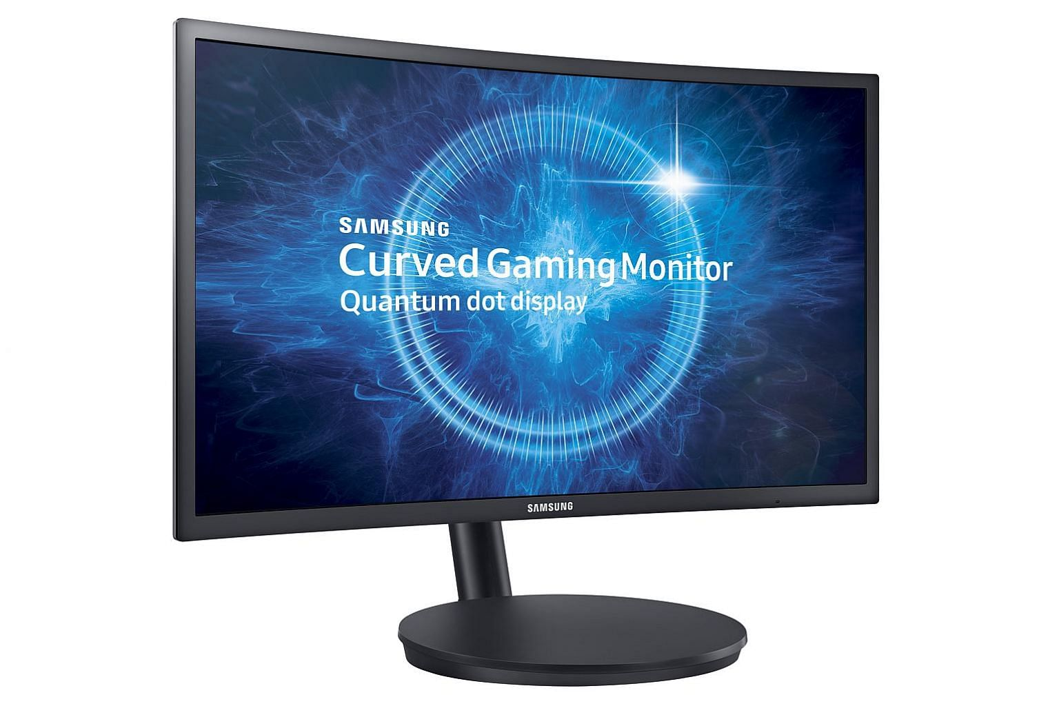 With the dual-hinge arm sticking out at the back and the monitor's relatively large base, the CFG70 needs a fair bit of desk space but users can also hang the monitor on the wall.