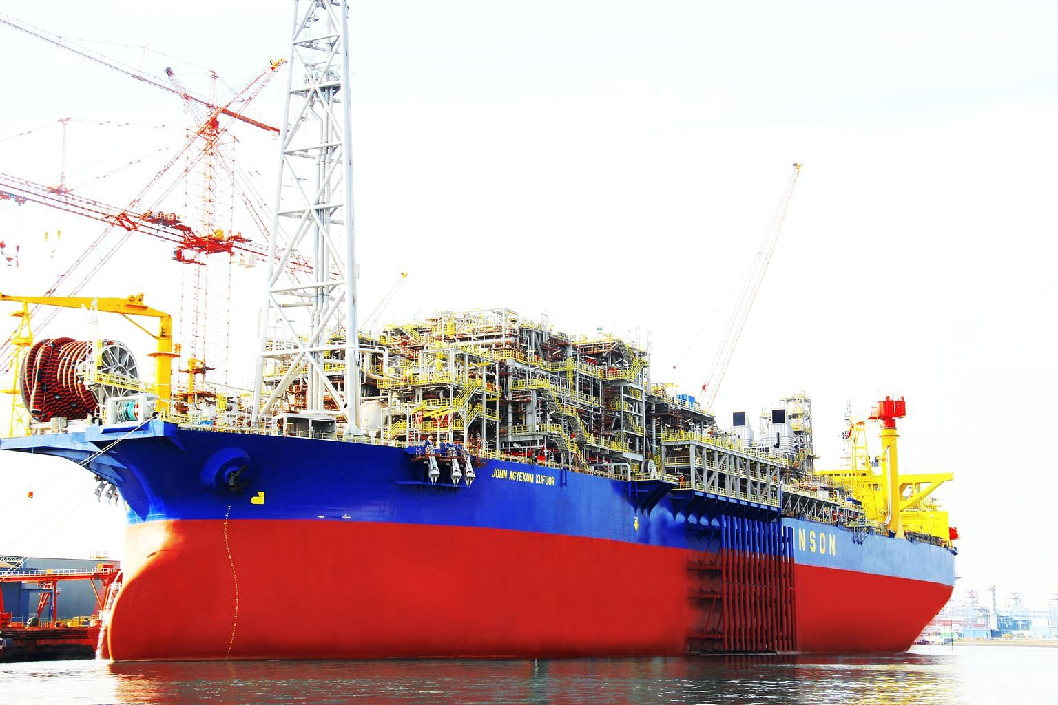 Oil trading giant Vitol chose to build its largest floating production, storage and offloading vessel, the John Agyekum Kufuor (above), here.