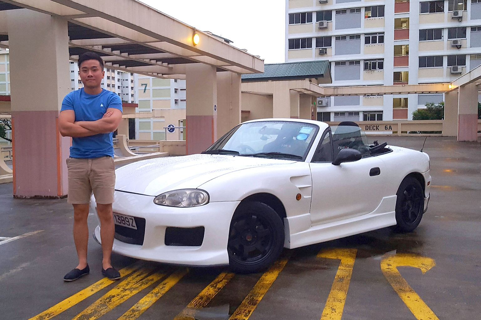 Mr Trevor Teo proposed to his fiancee while she was seated in the Mazda MX-5.