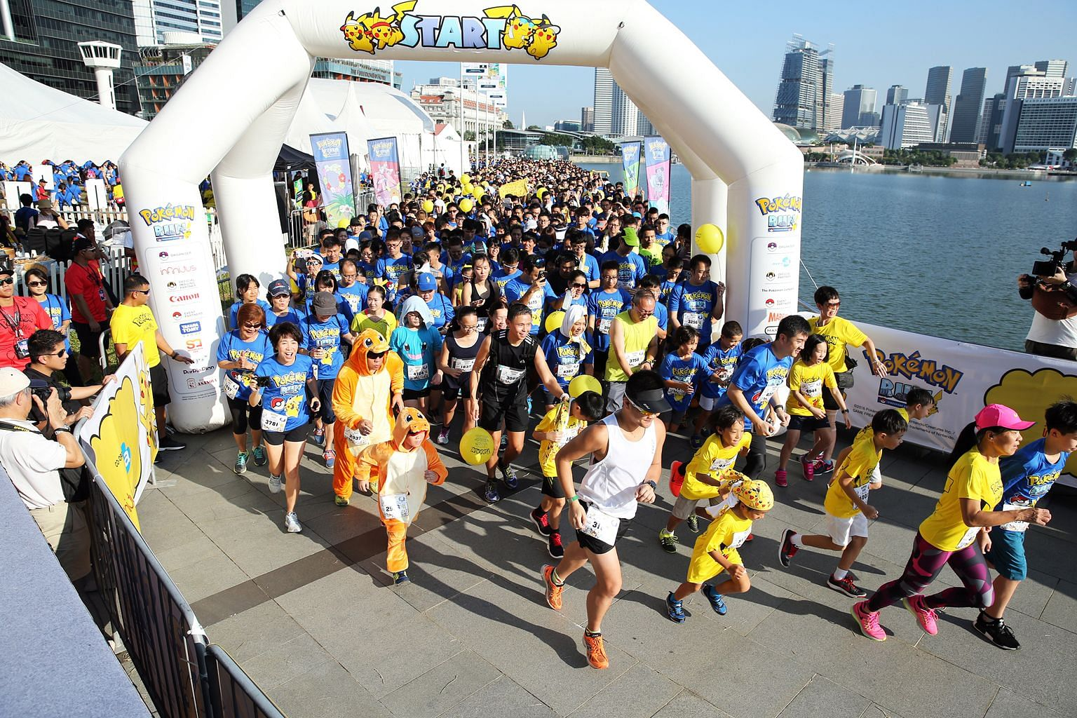 Last month's Pokemon Run drew about 6,000 runners, including many dressed as their favourite characters from the video game.