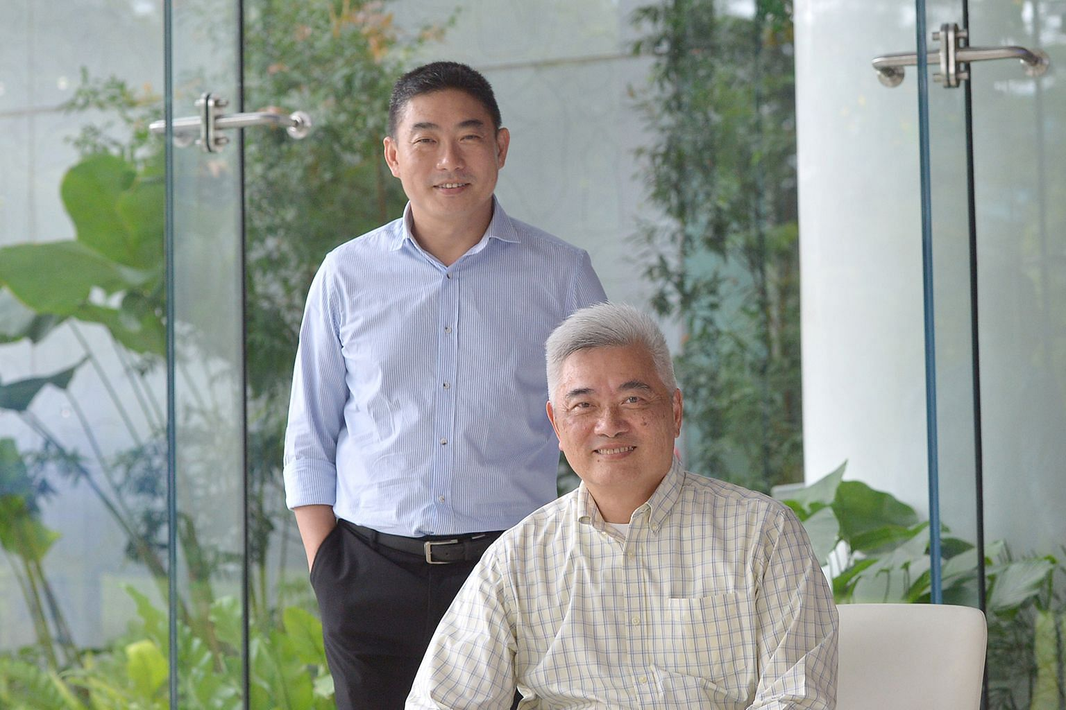 GWIA's Mr Lee (left) and P&G's Mr Kaw. The partnership between the SME and global giant was shortlisted for the Most Transformational Collaboration prize at last year's SICC Awards.