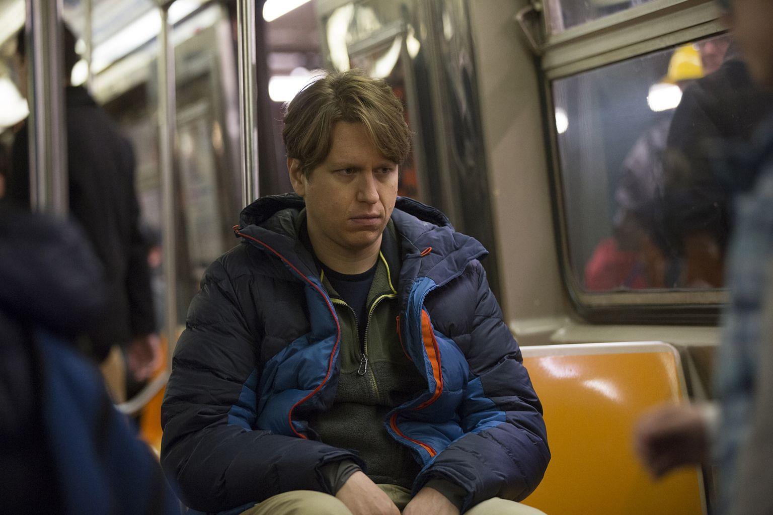 Comedian Pete Holmes (left) plays a version of himself in Crashing.