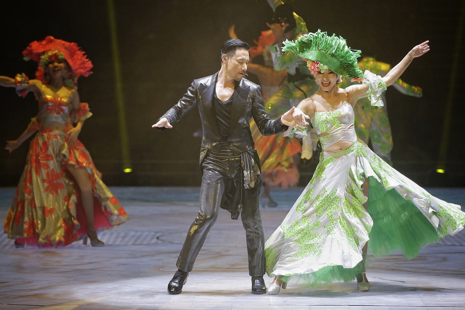 Singer Jacky Cheung displayed a brisk pace and high energy throughout his concert.