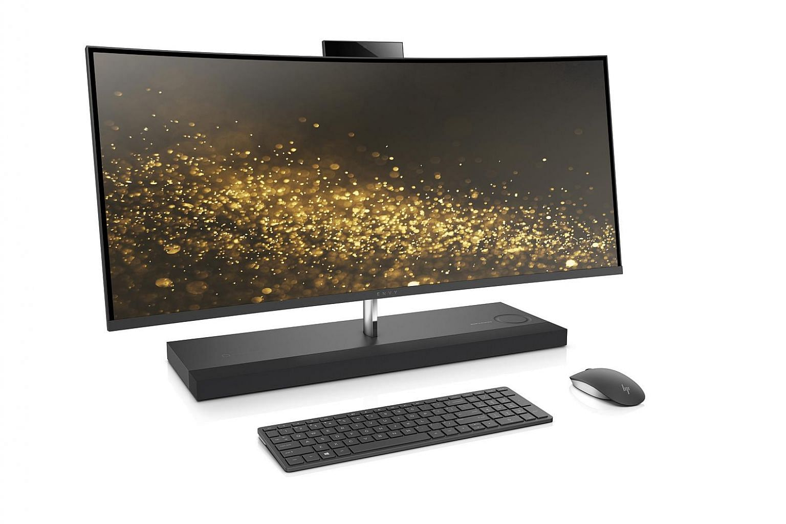 The HP Envy's 34-inch curved display is certified by Technicolor for colour accuracy.