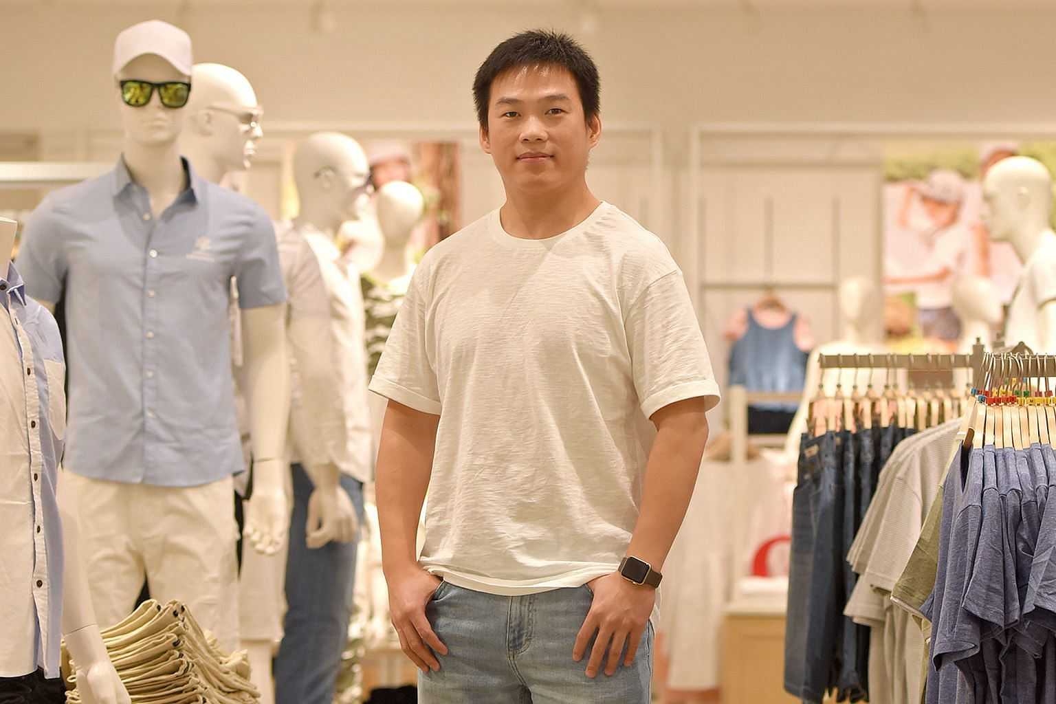 """""""Our quality is good, that's why our prices are not low-end,"""" said Yishion general manager Raymond Shen. The retailer sends all its clothing to quality control labs in China before shipping it."""