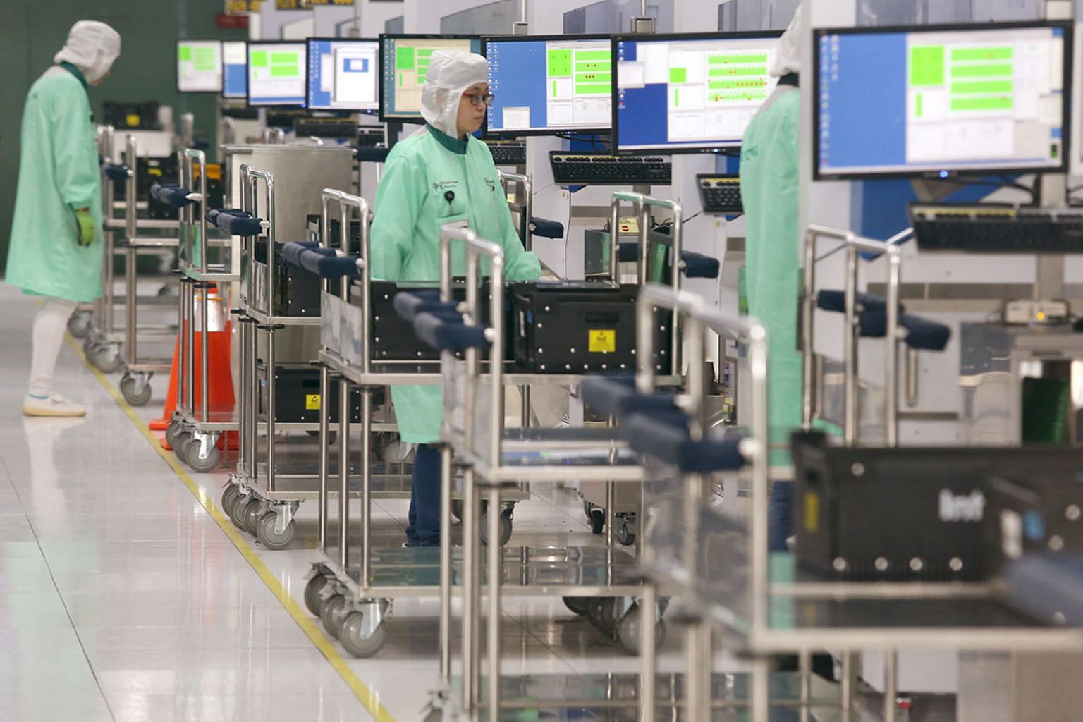 Manufacturing was led by a 48 per cent jump in electronics output year on year. Within the electronics cluster, the semiconductors segment rose 69.1 per cent, according to the EDB.